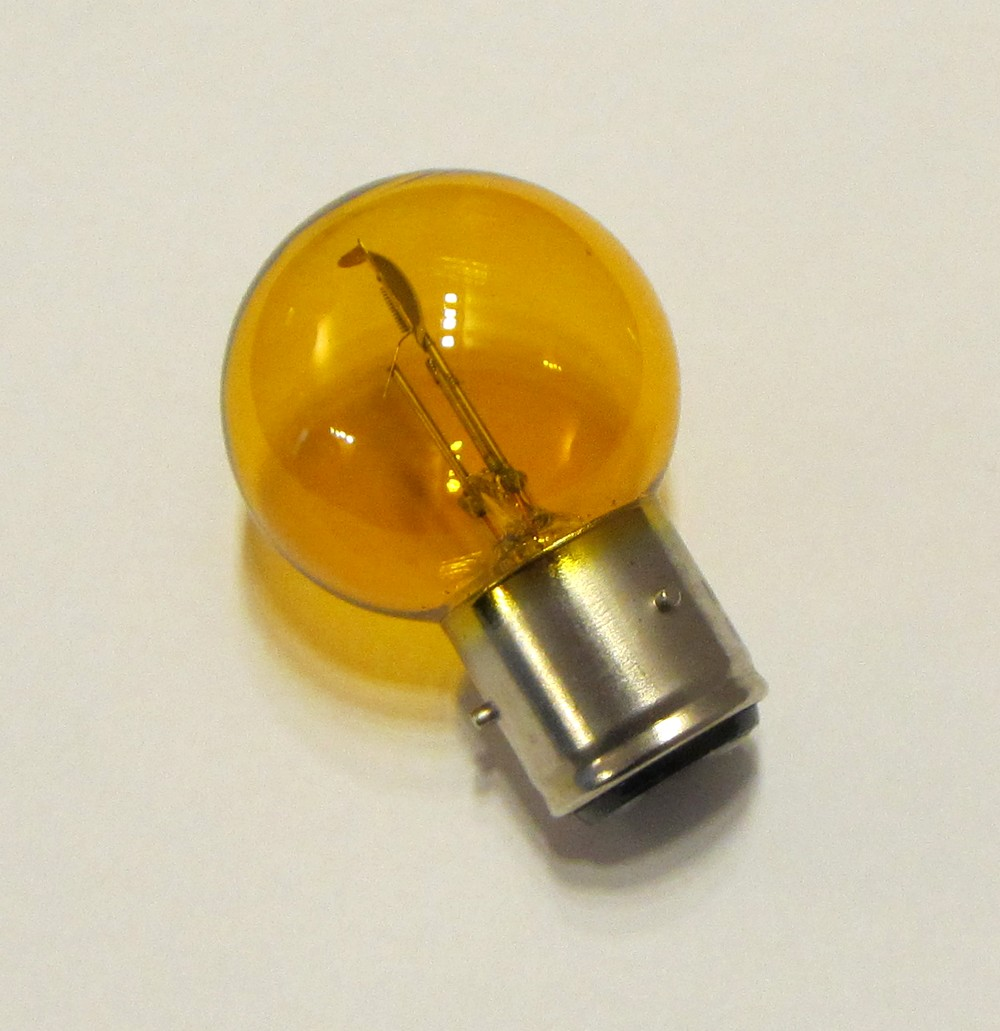 ampoule 6 volts jaune