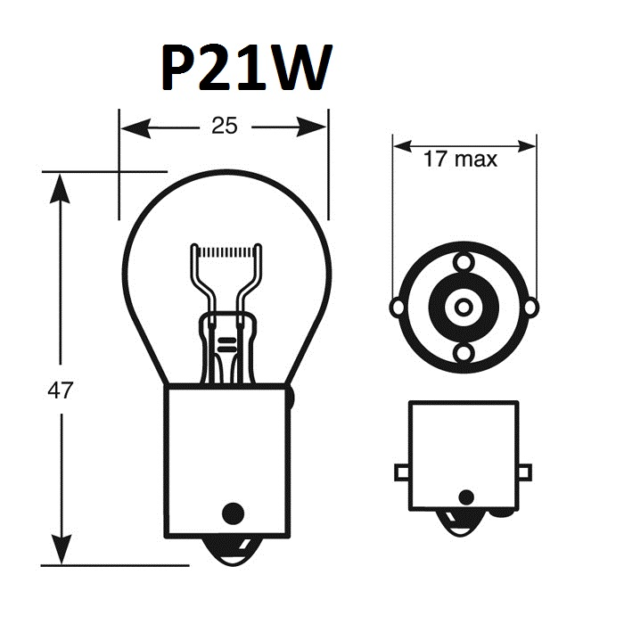 ampoule p21w