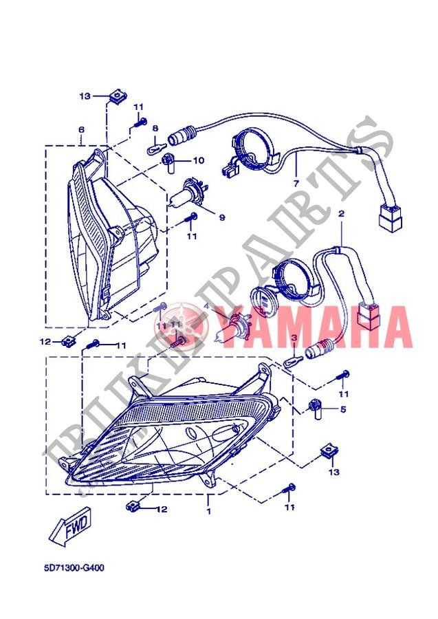 ampoule yzf r125